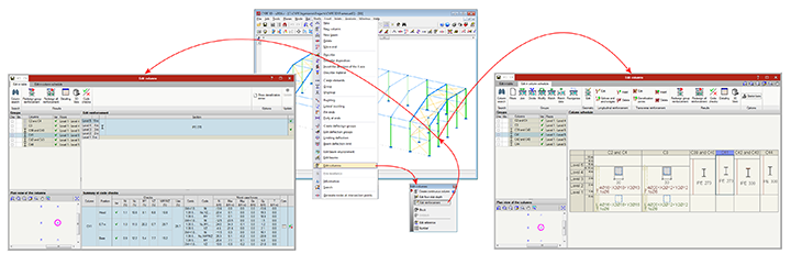 Selecting the advanced column editor